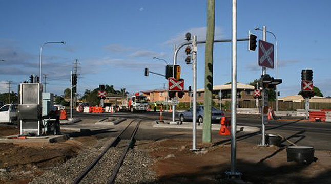 Installation of new cane railway crossing