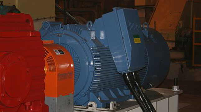 800 kW motor installed for Milling Train. 2010